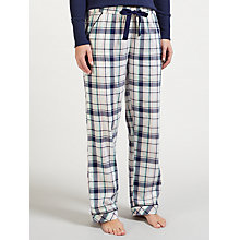 Buy John Lewis Carli Check Print Pyjama Bottoms, Ivory/Navy Online at johnlewis.com