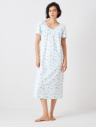 John Lewis   Partners Rei Floral Short Sleeve Cotton Nightdress 636e6c93e