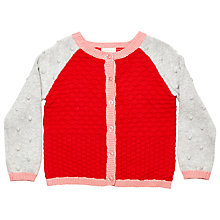 Buy Margherita Kids Girls' Colour Block Cardigan, Hibiscus Online at johnlewis.com