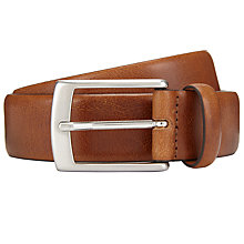 Buy John Lewis Made in Italy Nevada Leather Belt, Tan Online at johnlewis.com