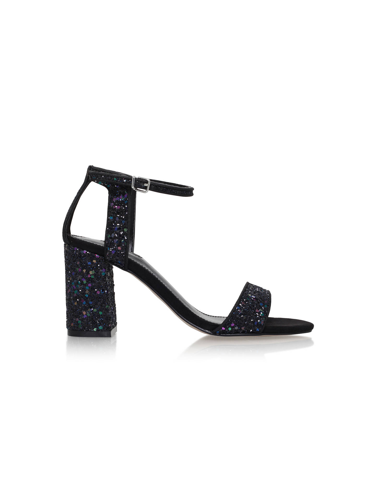 BuyCarvela Gigi Block Heeled Sandals, Multi Glitter, 3 Online at johnlewis.com