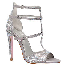 Buy Carvela Gaye Multi Strap Stiletto Sandals, Silver Online at johnlewis.com