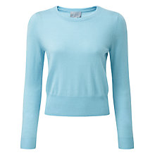 Buy Pure Collection Nora Crop Sweater, Soft Aqua Online at johnlewis.com