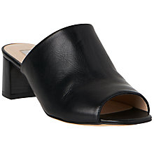 Buy L.K. Bennett Dana Block Heeled Mule Sandals, Black Leather Online at johnlewis.com