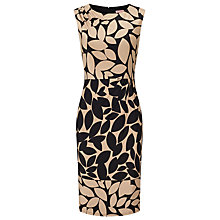 Buy Phase Eight Leora Leaf Print Dress, Black/Camel Online at johnlewis.com
