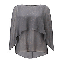 Buy Phase Eight Kalila Foil Blouse, Gunmetal/Gold Online at johnlewis.com