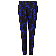 Buy Phase Eight Sacha Print Trousers, Black/Cobalt Online at johnlewis.com