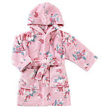 Buy John Lewis Baby Floral Robe, Pink Online at johnlewis.com