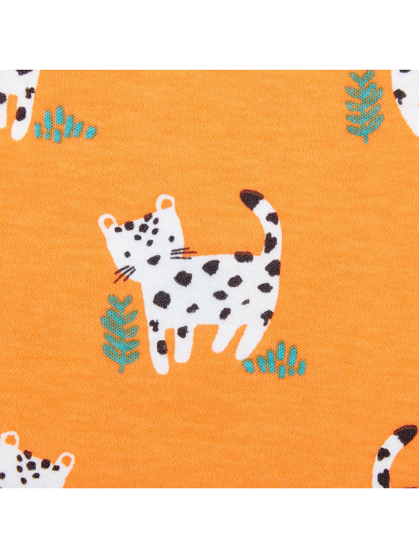 5456c6cf0ce9 ... Buy John Lewis   Partners Baby Leopard Romper Playsuit
