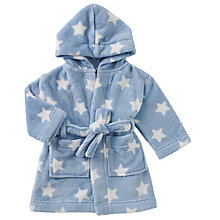 Buy John Lewis Baby Star Robe, Blue Online at johnlewis.com