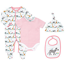 Buy John Lewis Baby Jungle Print 4 Piece Set, Multi Online at johnlewis.com