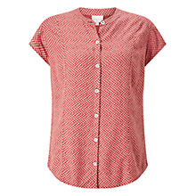Buy East Shibori Print Blouse, Red Online at johnlewis.com
