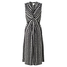 Buy East Aztec Print Jersey Dress, Black Online at johnlewis.com