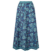 Buy East Anokhi Anatolia Skirt, Teal Online at johnlewis.com