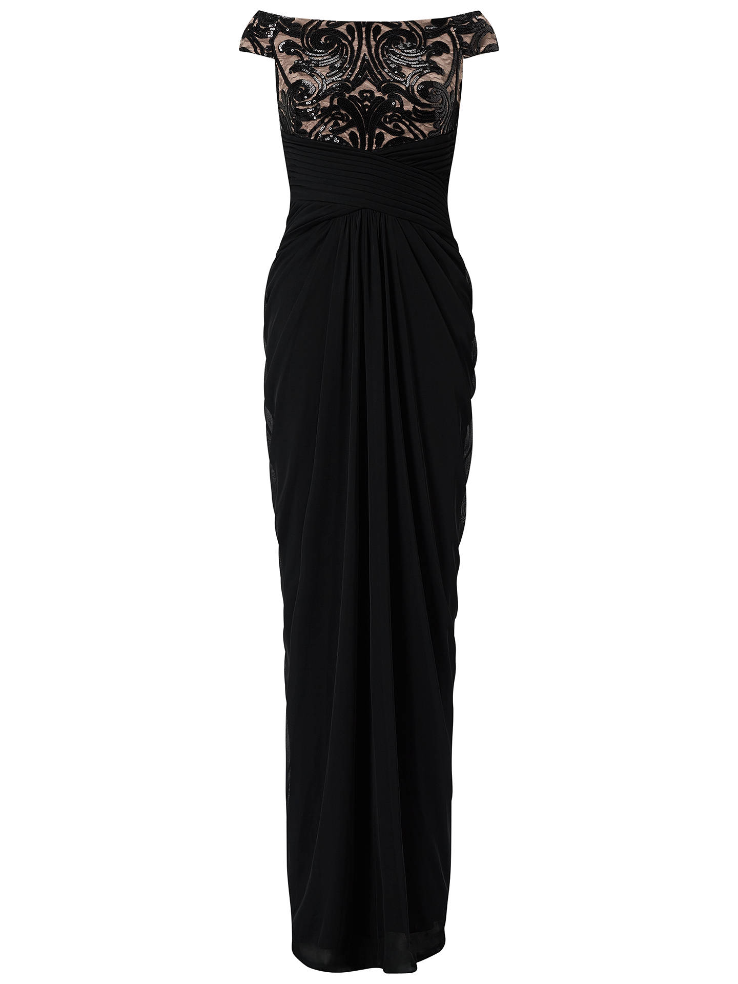 5f6faf63b24a Buy Adrianna Papell Plus Size Off Shoulder Sequin Tulle Gown, Black/Rose  Gold, ...
