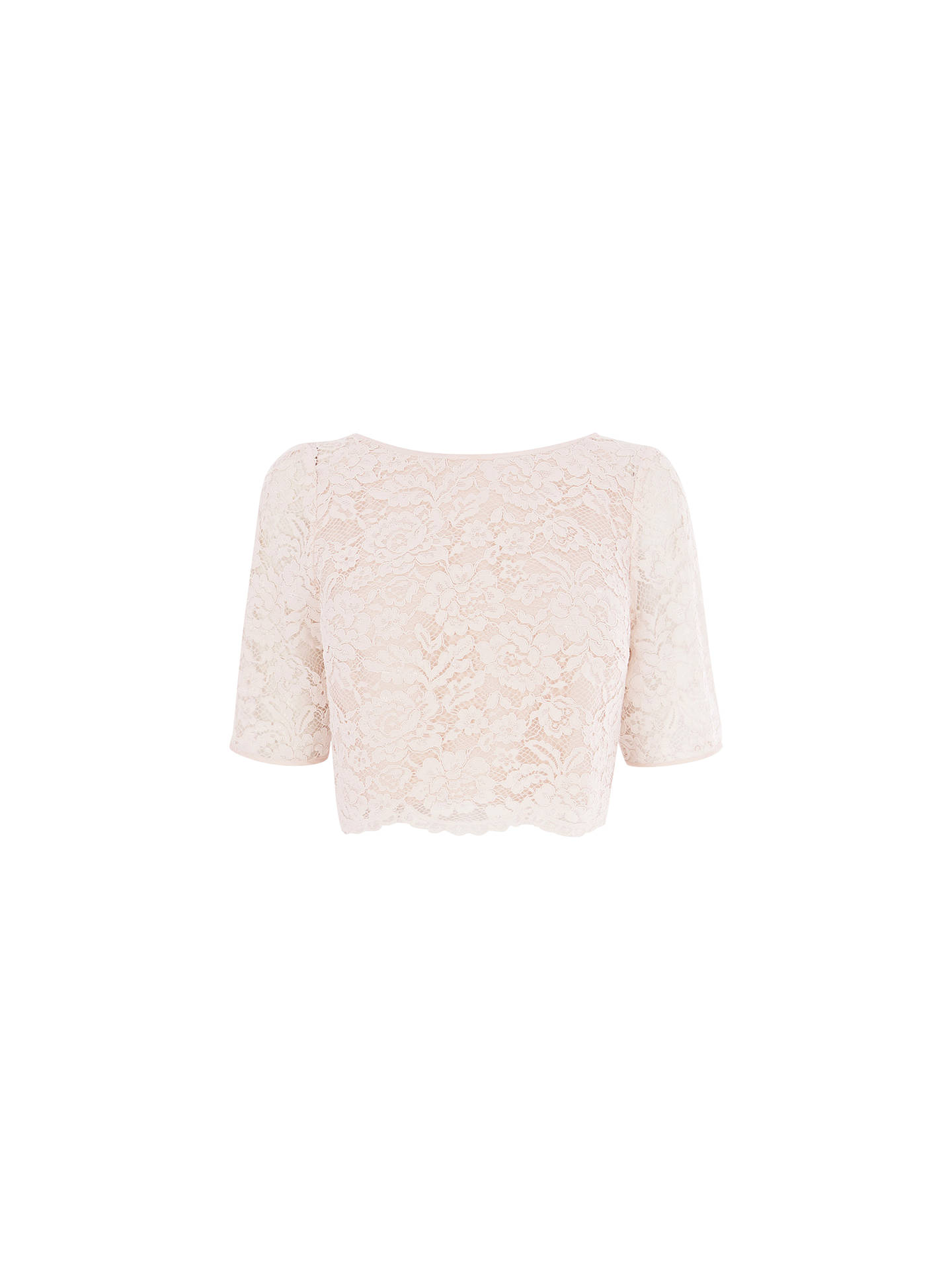 96bf7439645fde Buy Coast Manon Lace Top, Blush, 6 Online at johnlewis.com ...