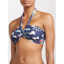 Buy Seafolly Flower Festival Bandeau Halterneck Bikini Top, Indigo/Multi Online at johnlewis.com