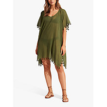 Buy Seafolly Amnesia Kaftan, Indigo Online at johnlewis.com