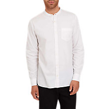 Buy Jaeger Collarless Shirt, White Online at johnlewis.com