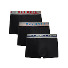 Buy BOSS Stretch Cotton Contrast Waistband Trunks, Pack of 3 Online at johnlewis.com