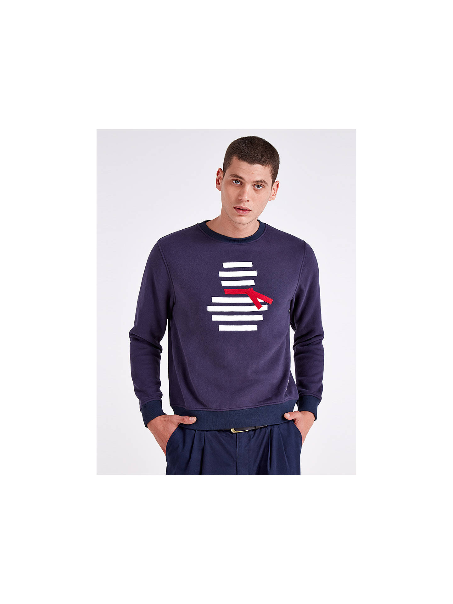 Buy HYMN Frosty Snowman Sweatshirt, Navy, M Online at johnlewis.com