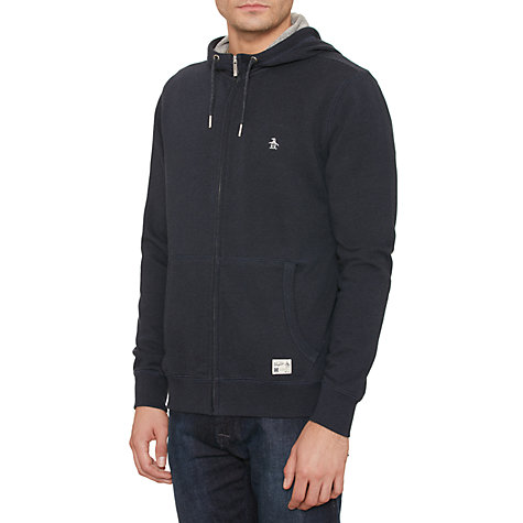 Buy Original Penguin Zip Through Hoody, Dark Sapphire Online at johnlewis.com
