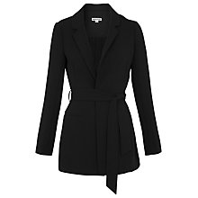 Buy Whistles Pleat Back Blazer, Black Online at johnlewis.com