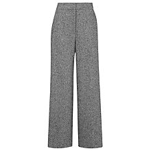 Buy Whistles Brennan Tweed Textured Trousers, Grey Online at johnlewis.com