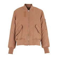 Buy Whistles Carter Reversible Bomber Jacket, Nude Online at johnlewis.com
