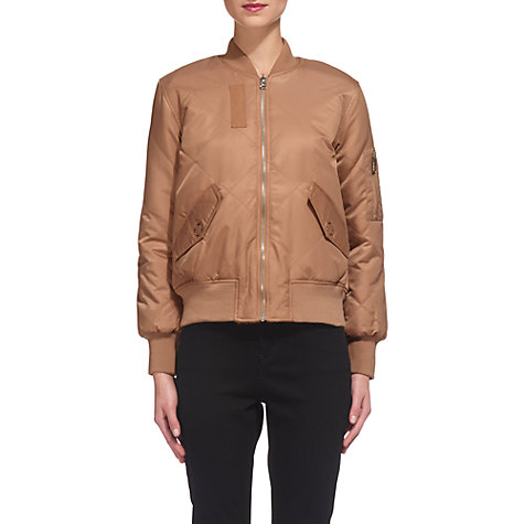 Buy Whistles Carter Reversible Bomber Jacket, Nude | John Lewis