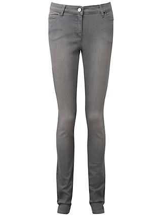 Pure Collection Slim Leg Jeans, Pale Grey