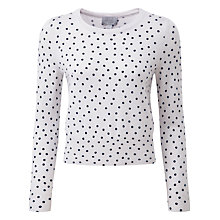 Buy Pure Collection Jane Cashmere Sweater, Whisper/Navy Online at johnlewis.com