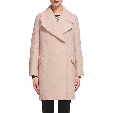 Buy Whistles Penny Double Breasted Coat, Pale Pink | John Lewis
