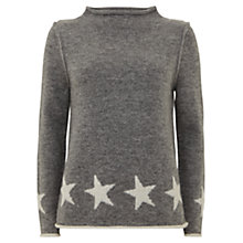 Buy Mint Velvet Star Border Jumper, Grey Online at johnlewis.com