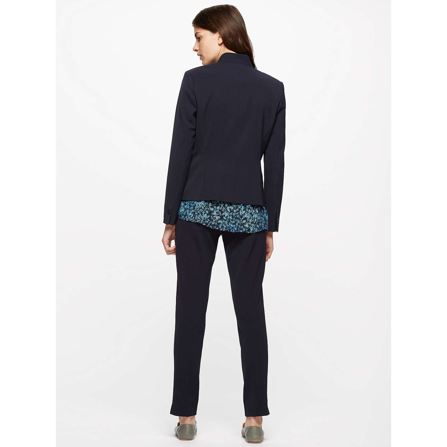 BuyJigsaw Paris Chip Rever Jacket, Navy, 6 Online at johnlewis.com