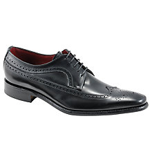 Buy Loake Clint Long-Wing Brogues, Black Online at johnlewis.com
