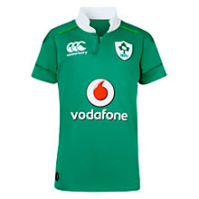 Buy Canterbury of New Zealand Boys' Ireland Home Pro Rugby Shirt, Green Online at johnlewis.com