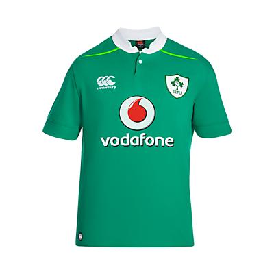 Product photo of Canterbury of new zealand vapodri ireland home short sleeve rugby shirt green