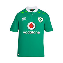 Buy Canterbury of New Zealand Vapodri Ireland Home Short Sleeve Rugby Shirt, Green Online at johnlewis.com
