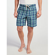 Buy John Lewis Swanage Check Lounge Shorts, Blue/Green Online at johnlewis.com