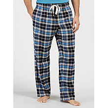 Buy John Lewis Burley Check Brushed Cotton Lounge Pants, Navy Online at johnlewis.com