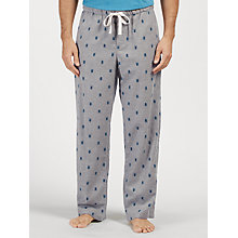 Buy John Lewis Stag Beetle Print Lounge Pants, Grey Online at johnlewis.com