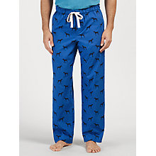 Buy John Lewis Pointer Dog Print Lounge Pants, Blue Online at johnlewis.com