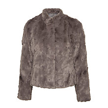 Buy Gerry Weber Faux Fur Jacket, Dark Taupe Online at johnlewis.com