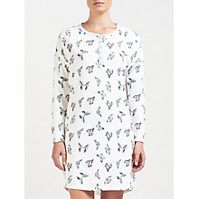 Buy John Lewis Butterfly Print Night Dress, Ivory/Multi Online at johnlewis.com