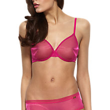 Buy Gossard Glossies Sheer Moulded Bra, Berry Online at johnlewis.com