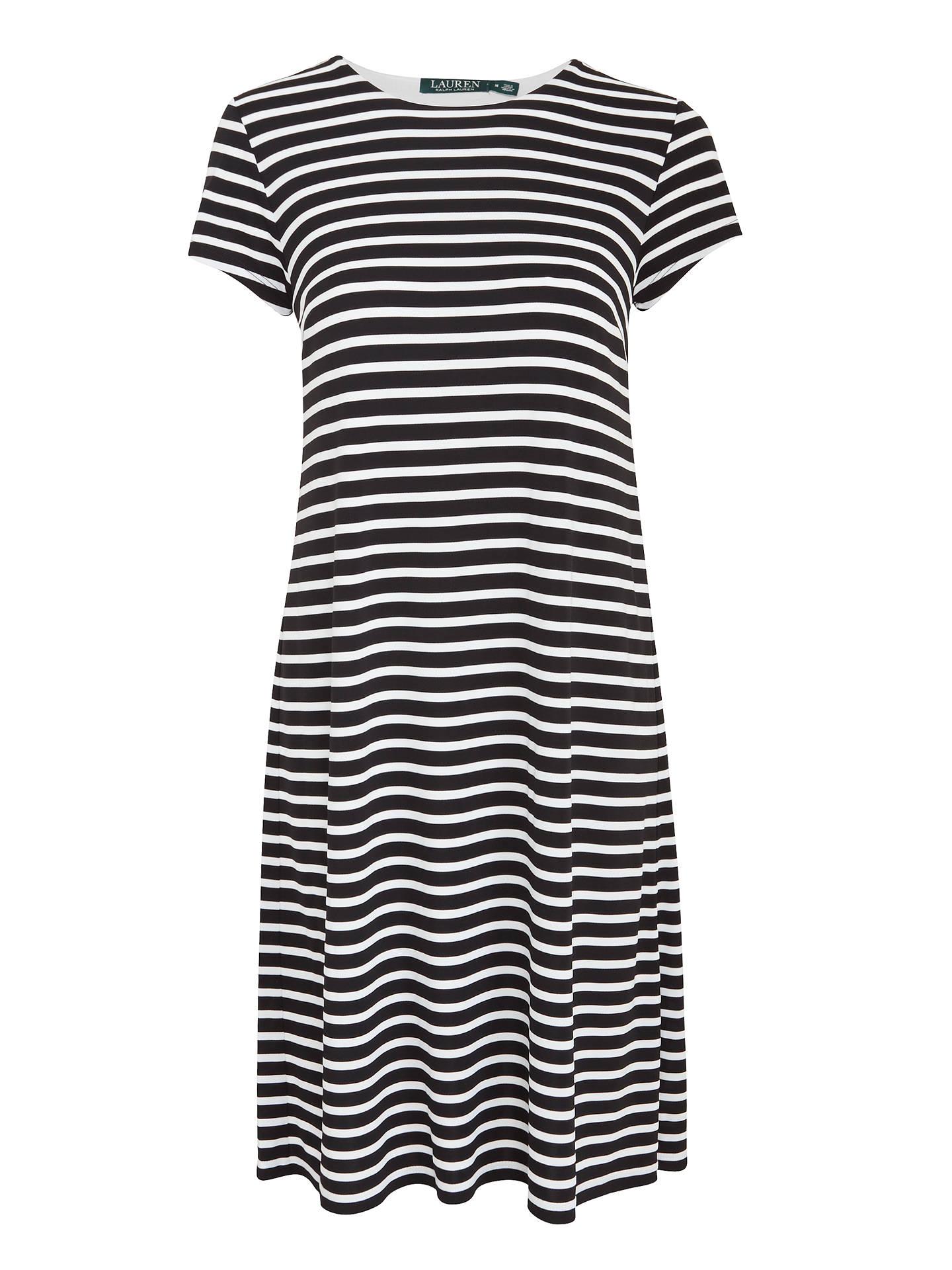 7f2553f719 Buy Lauren Ralph Lauren Hiwalani Stripe Jersey Dress, Black/White, XS  Online at