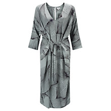 Buy Jigsaw Broken Glass V-Neck Dress, Pale Sage Online at johnlewis.com