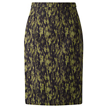 Buy Jigsaw Cynograph Floral Skirt, Golden Moss Online at johnlewis.com