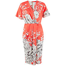 Buy Closet Floral Wrap Dress, Coral Online at johnlewis.com